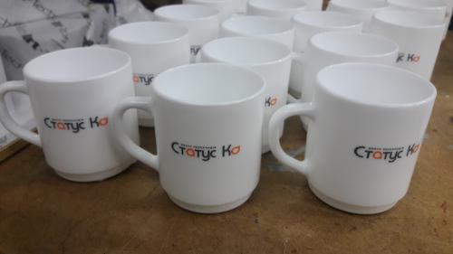Чашки с качественной печатью логотипа